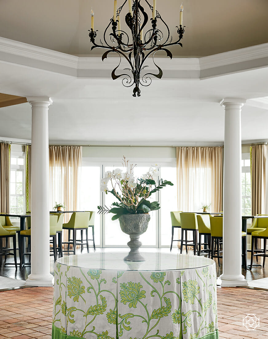 © Ann Legette Interiors — Greensboro Country Club